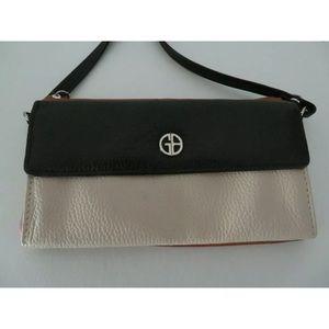 Gianni Bernini Crossbody Leather Purse Wallet